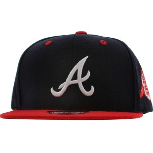 American Needle Atlanta Braves Blockhead Snapback Cap (navy / red)