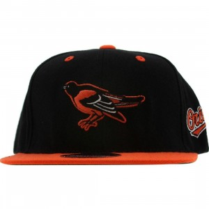 American Needle Baltimore Orioles Blockhead Snapback Cap (black / orange)