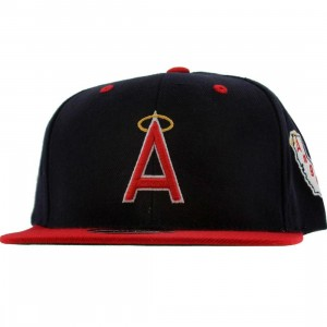 American Needle California Angels Blockhead Snapback Cap (navy / red)