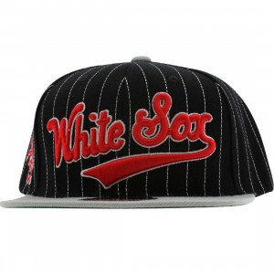 American Needle Chicago White Sox Dotty Pin Snapback Cap (black / light grey)
