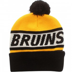 American Needle Boston Bruins Voice Call Knit Beanie (gold / white / black)