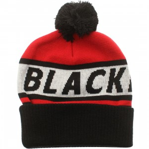 American Needle Chicago Blackhawks Voice Call Knit Beanie (red / white / black)
