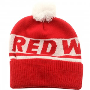 American Needle Detroit Red Wings Voice Call Knit Beanie (red / white)