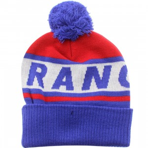 American Needle New York Rangers Voice Call Knit Beanie (red / white / royal)