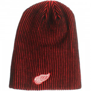 American Needle Detroit Red Wings Team Switch Knit Beanie (red / black)