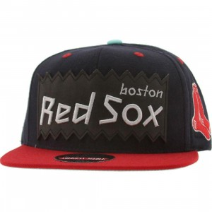 BAIT x MLB x American Needle Boston Red Sox Retro Snapback Cap (navy / red)