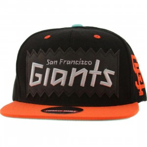 BAIT x MLB x American Needle San Francisco Giants Retro Snapback Cap (black / orange)