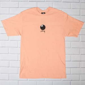 Stussy Men 8 Ball Stock Tee (pink / salmon)