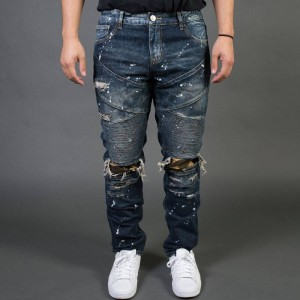 Embellish NYC Men Bad Biker Jeans (blue / vintage)