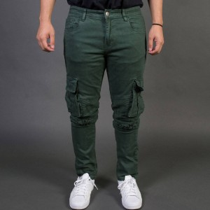 Embellish NYC Men Liam Cargo Biker Jeans (green / army)