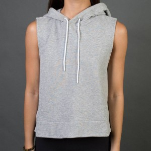 Adidas Women Sleeveless Pullover Hoodie (gray / medium grey heather)