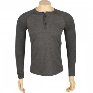ARSNL Harris Long Sleeve Raglan Henley (charcoal heather)