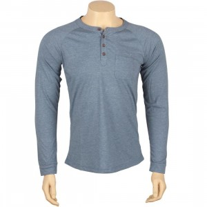 ARSNL Harris Long Sleeve Raglan Henley (indigo heather)