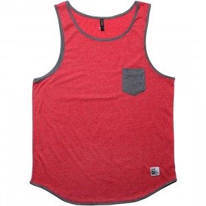 ARSNL Zed Tank Top (red heather)