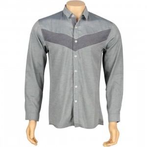 ARSNL Taft Woven Long Sleeve Shirt (light blue chambray)