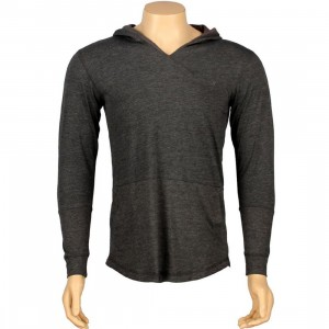 ARSNL Sabastien Light Weight Hooded Long Sleeve Tee (charcoal heather)