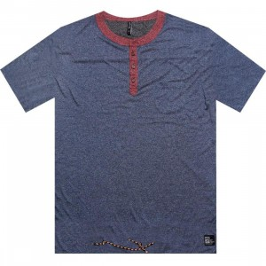 ARSNL Keown Henley Tee (navy speckle)