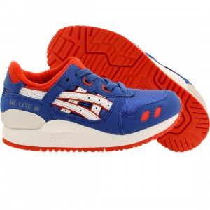 Asics Tiger Little Kids Gel Lyte III PS (blue / strong blue / white)