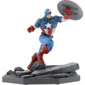 BAIT x Marvel Captain America Statue By MINDstyle (blue) only 500 made