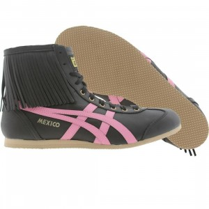 Onitsuka Tiger Womens Mexico Mid Boots (black / rose pink)