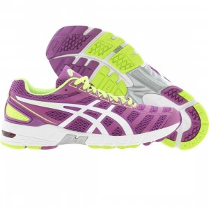 Asics Tiger Womens Gel-DS Trainer 18 (purple / white / neon yellow)