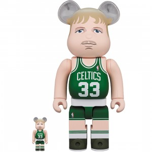 PREORDER - Medicom NBA Boston Celtics Larry Bird 100% 400% Bearbrick Figure Set (green)