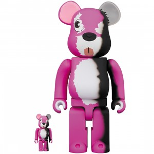 PREORDER - Medicom Breaking Bad Pink Bear 100% 400% Bearbrick Figure Set (pink)
