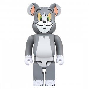 PREORDER - Medicom Tom and Jerry - Tom 400% Bearbrick Figure (gray)