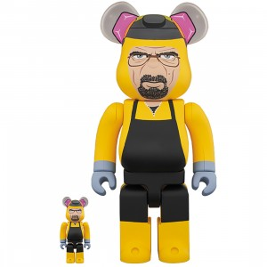 PREORDER - Medicom Breaking Bad Walter White 100% 400% Bearbrick Figure Set (yellow)
