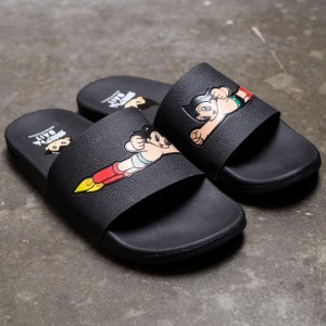 BAIT x Astro Boy Men Launch Slides (black)