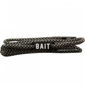 BAIT Deluxe 3M Rope Shoelaces (silver / 3M / black)