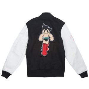 BAIT x Astroboy Men Step Varsity Jacket (black / white)