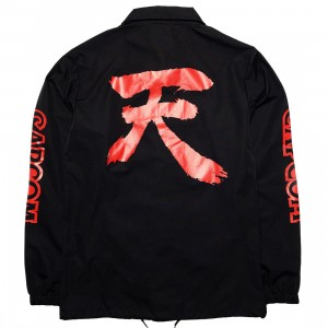 BAIT x Street Fighter Men Akuma Coaches Jacket (black)
