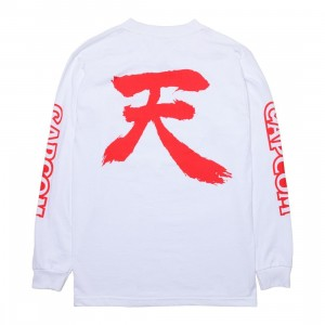 BAIT x Street Fighter Men Akuma Long Sleeve Tee (white)