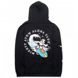 BAIT x Astro Boy Men Aloha Surf Hoody (black)