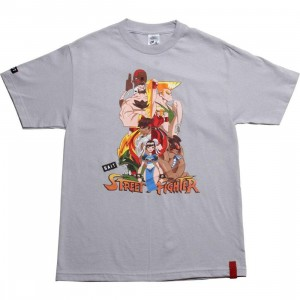 BAIT x Street Fighter Artist Series World Warriors Tee - Kwestone (silver)