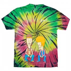 BAIT x MTV's Beavis And Butt-Head Men On A Trip Tee (multi / tie dye)