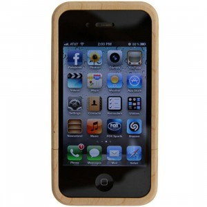 BAIT x Good Wood NYC iPhone 4 and 4S B Block Logo Wood Case (natural wood)