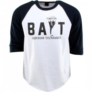 BAIT x Bruce Lee High Kick Raglan Tee (white / navy / black)