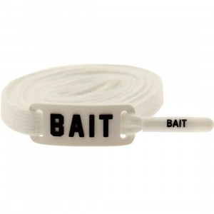 BAIT Flat Shoelaces (white)