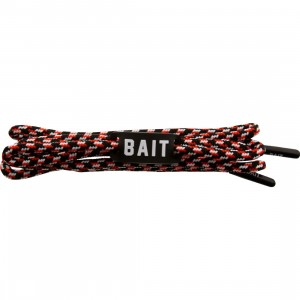 BAIT Bred Premium Rope Shoelaces (black / red / white)