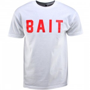 BAIT Logo Tee (white / red)