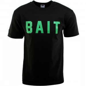 BAIT Logo Tee (black / green)