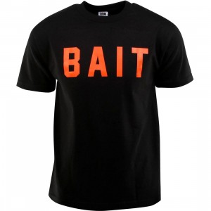 BAIT Logo Tee (black / orange)