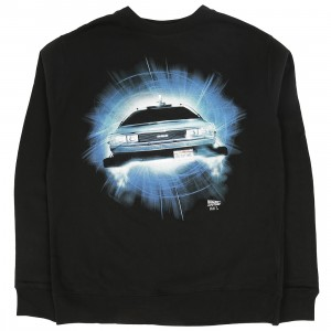BAIT x Back To The Future Men DMC Delorean Future Crewneck Sweater (black)