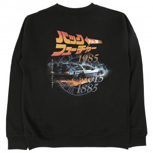 BAIT x Back To The Future Men Japanese Title Crewneck Sweater (black)