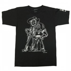 BAIT x Toy Story Men Buzz And Woody Best Friend Sketch Tee (black / gradient)