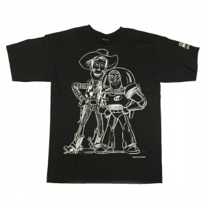 BAIT x Toy Story Youth Buzz And Woody Best Friend Sketch Tee (black / gradient)