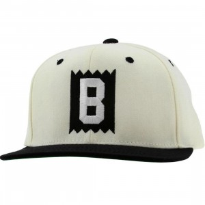 BAIT B Box Logo Snapback Cap (natural / black / white)