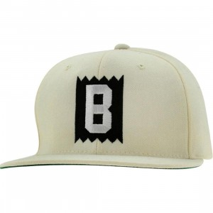 BAIT B Box Logo Snapback Cap (natural / white)